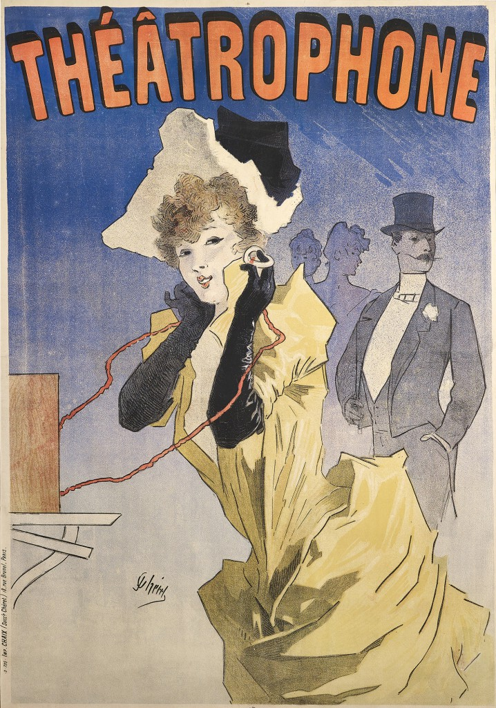 Jules Chéret, Théâtrophone, 1890.