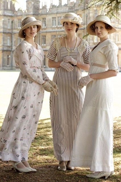 The three Crawley sisters of Downton Abbey