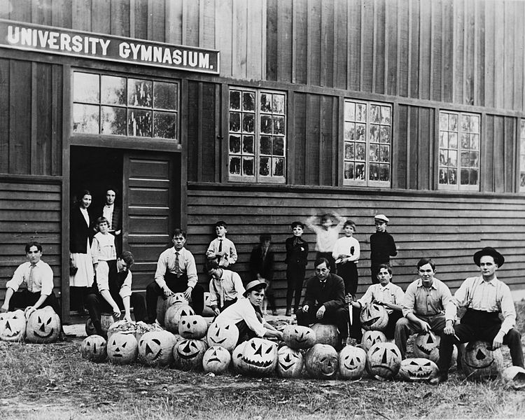 Student Halloween party at the University of Southern California, ca. 1890