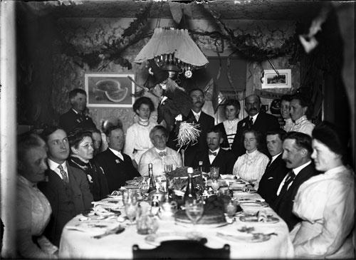 A Halloween dinner in Vermont, ca. 1900
