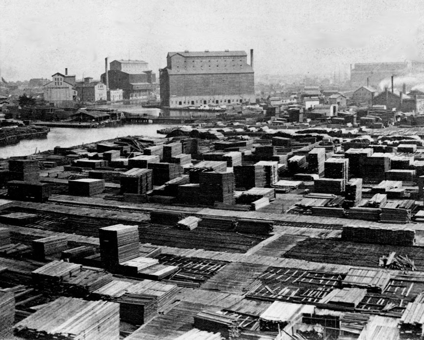 Lumberyards on the Chicago River