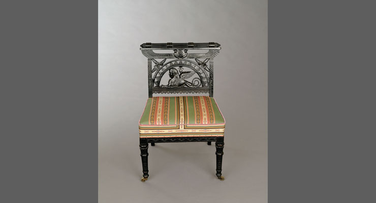 Egyptian Revival Side Chair, c. 1875