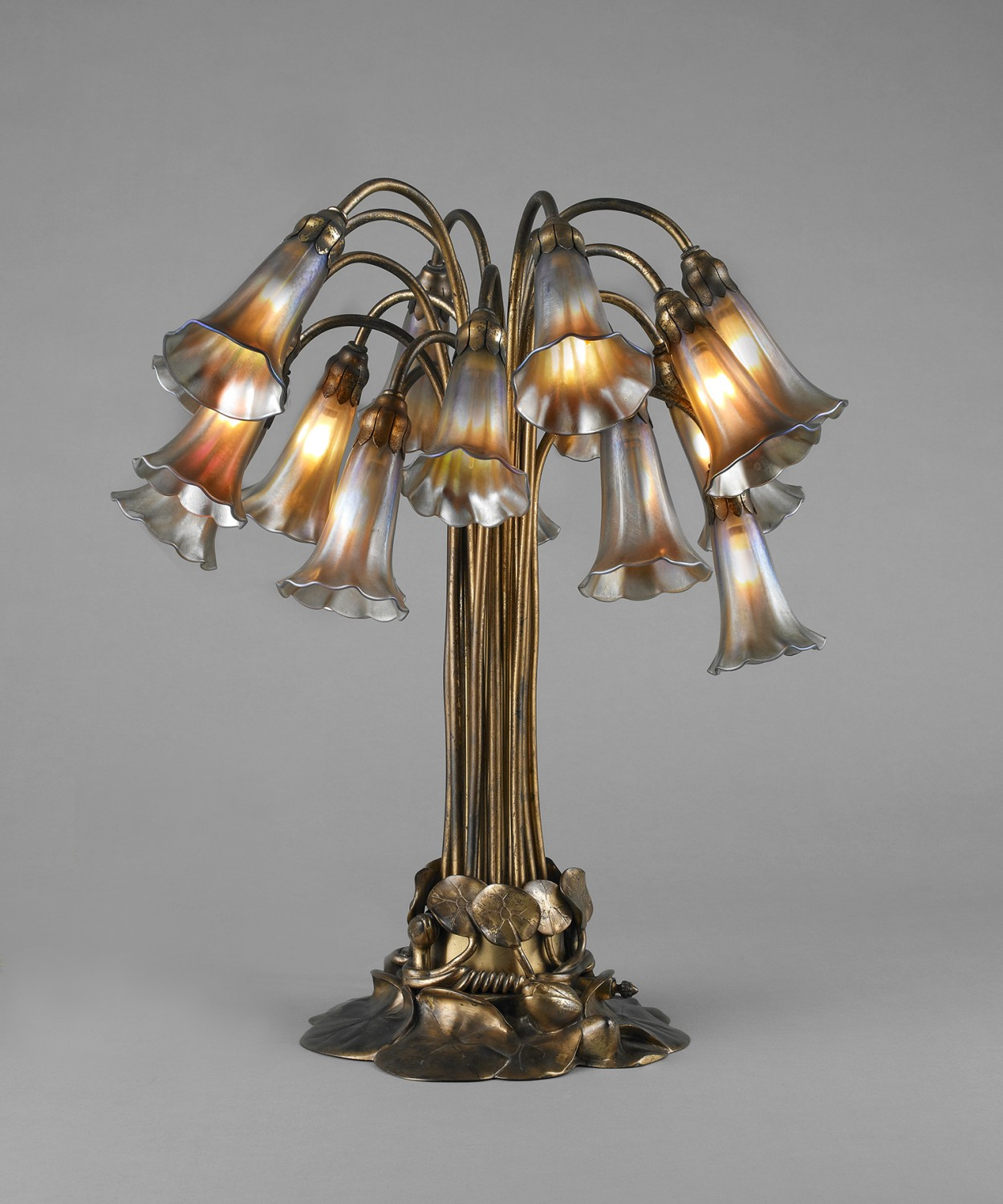 Tiffany Eighteen-Light Lily Table Lamp