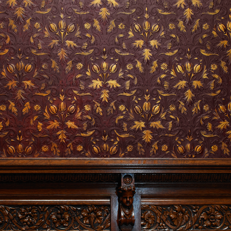 Object of the Month: Lincrusta Wall Covering, the Nickerson Mansion, 1883