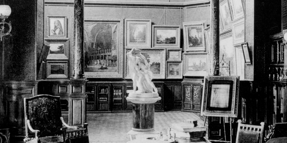 The Picture Gallery of the Nickerson Mansion, c.1880s.