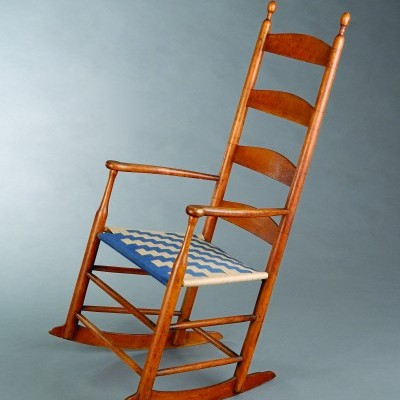 1. Shaker Ladderback Arm  Rocking Chair