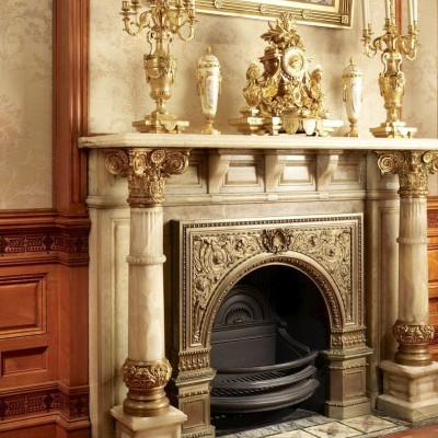 Onyx fireplace, Drawing Room
